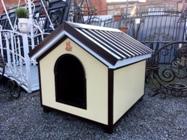 В продажу поступили утепленные и простые будки разных размеров для собак .